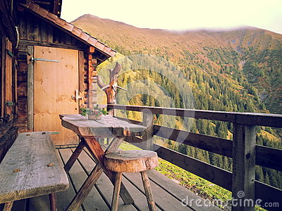 Terrace Of Mountain Cabin Free Public Domain Cc0 Image