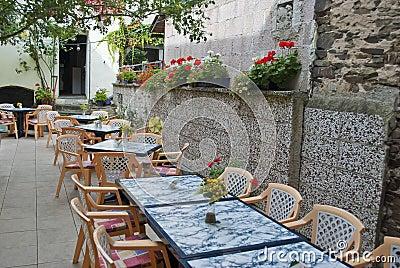 Terrace of a restaurant