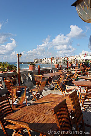 Terrace with sea