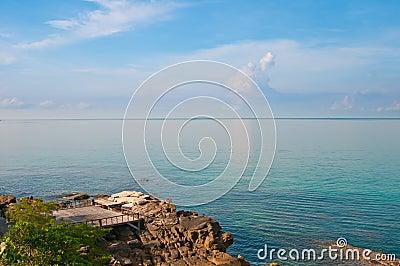 Terrace on the seaside rocks