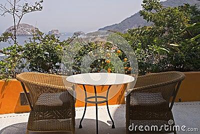 Terrace setting in the tropics