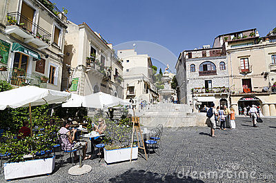 Terrace at Taormina Editorial Image