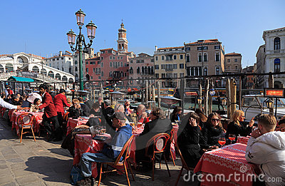 Terrace in Venice Editorial Image