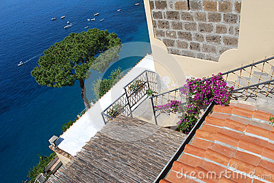 Terrace view, Capri, Italy