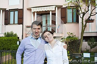 Terraced house couple