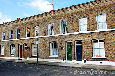 Terraced Houses Royalty Free Stock Photo - Image: 8409895