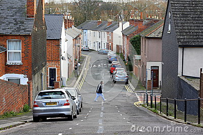Terraced Houses in England Editorial Photography