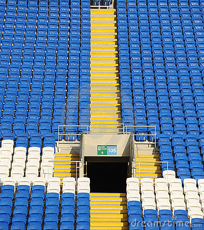 Terraced stadium seating