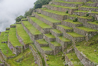 Terraces at Machu Picchu