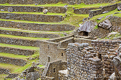 Terraces Of Machu Picchu Royalty Free Stock Image - Image: 8998686