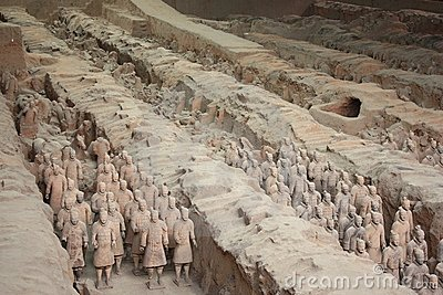 Terracotta army Editorial Stock Image