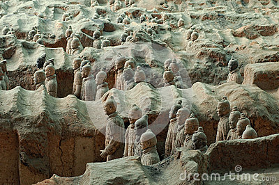 Terracotta Army near the city of Xian, China