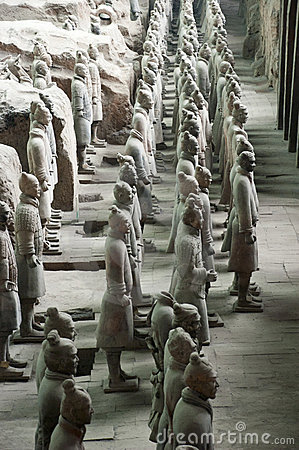 Terracotta Army Soldiers Horses, Xian China Travel