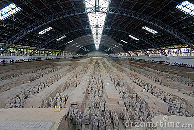 The Terracotta Army in Xi an Editorial Image