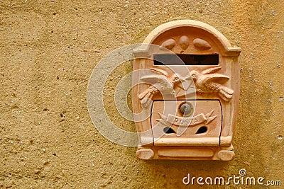 Terracotta mailbox