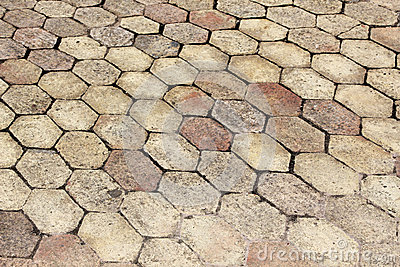 Terracotta paving tile