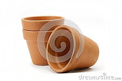 Terracotta pots.