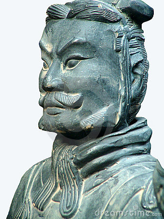 Free Terracotta Soldier.Isolated Royalty Free Stock Image - 586376