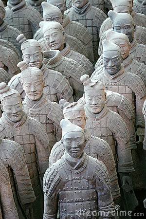 Free Terracotta Warriors Royalty Free Stock Image - 2512696