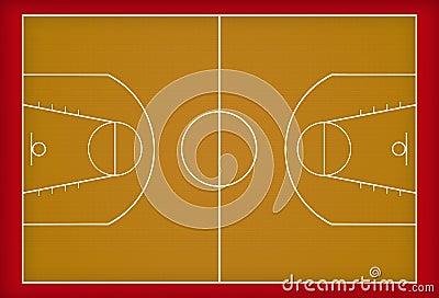 terrain de basket photo libre de droits image 18444175. Black Bedroom Furniture Sets. Home Design Ideas