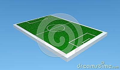 Terrain de football 3d photo libre de droits image 8179335 for Pret pour terrain seul
