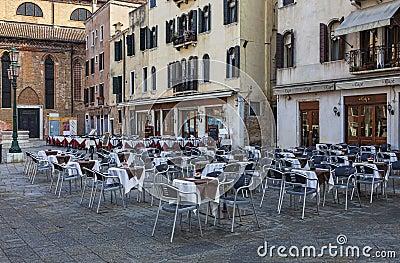 Terrazas venecianas Foto editorial