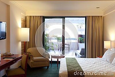 Terrazzo della camera di albergo
