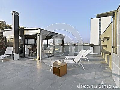 arredamento terrazzo terrazo moderno : Terrazzo Moderno Fotografie Stock - Immagine: 37075383