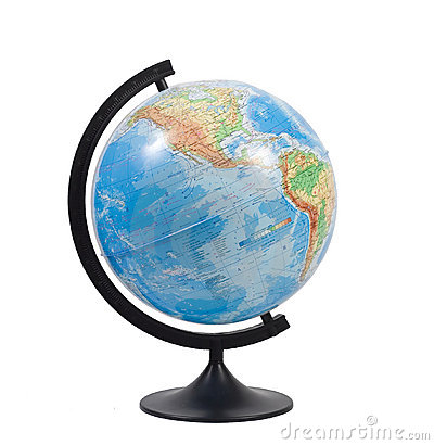 Free Terrestrial Globe Isolated Stock Photography - 3848312