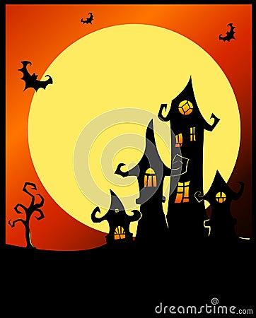 Terrible halloween castle.