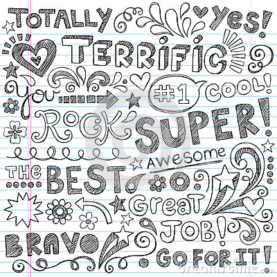 Super Terrific Student Praise Hand Lettering Phrases Back to School ...