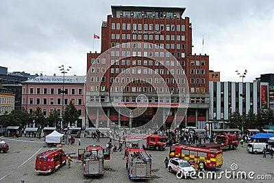 Terrorist attack in Oslo, Norway Editorial Stock Photo