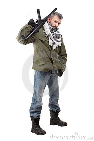Terrorist with rifle