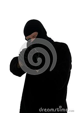 Terrorist taking aim.