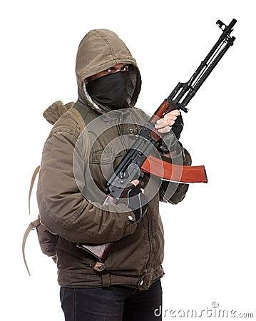 Terrorist with weapon