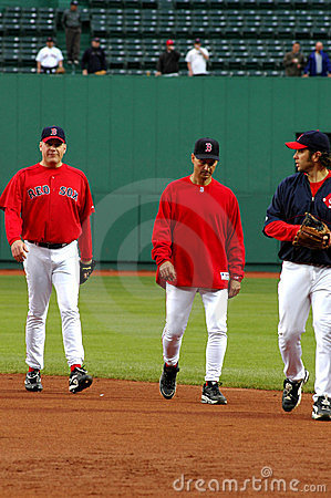 Terry Fracona and Curt Schilling Boston Red Sox Editorial Stock Photo