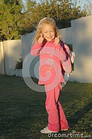 Terug naar school in roze