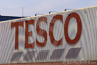 Tesco sign Editorial Stock Photo