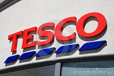 Tesco Sign Editorial Image