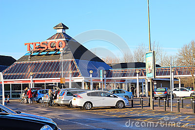 Tesco stores, Bedford, UK. Editorial Photo