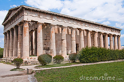 Teseo s Temple in Ancient Agora (Athens))