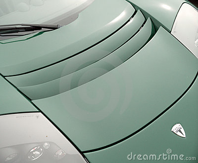 Tesla Roadster carhood Editorial Image