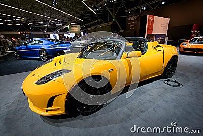 Tesla Roadster Sport Editorial Photo
