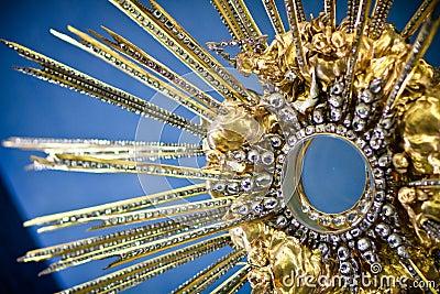 Tesoro de la iglesia de Loreta, Praga. Foto de archivo editorial