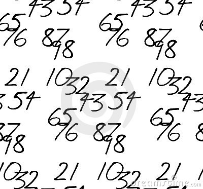 Tessellated handwritten numbers