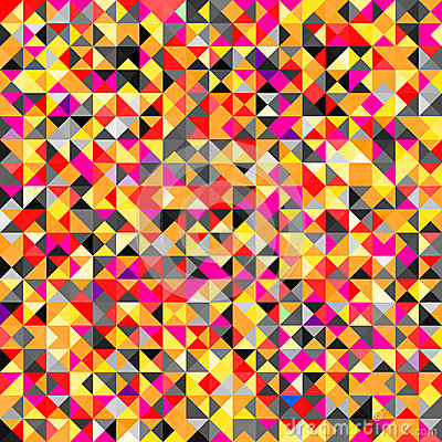 Tessellating Bright Colored Abstract Background Stock