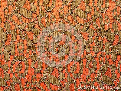 Tessuto del merletto del Brown