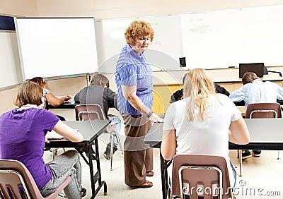 Test in Algebra Class