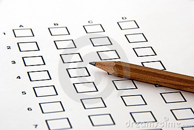 Test - the answer sheet