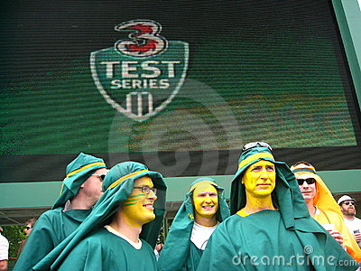 Test Cricket Crowd Costumes Editorial Image
